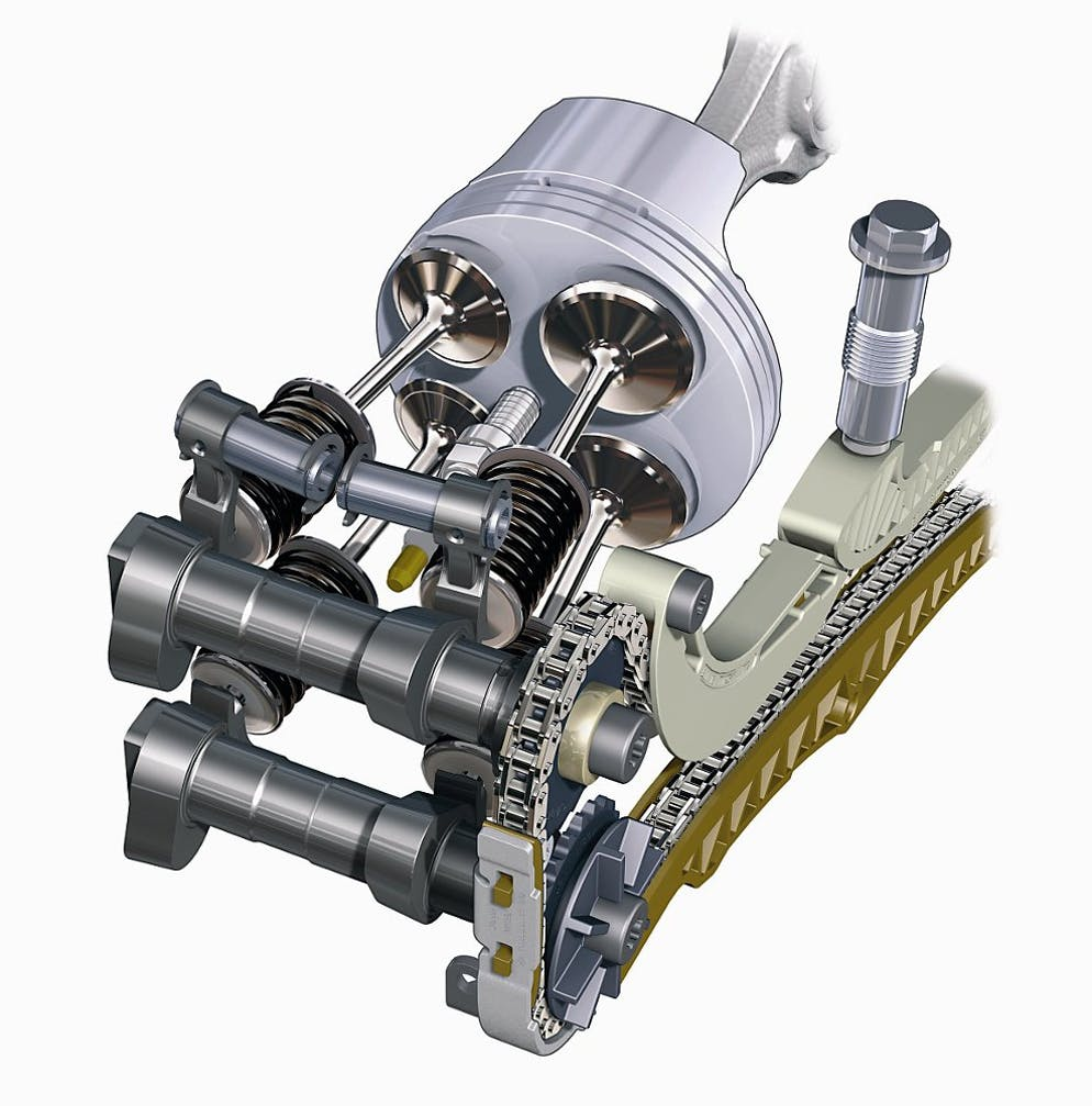 Why Things Are The Way They Multi Valve Heads Revzilla Double Overhead Cam Engine Diagram Cylinders May Be Horizontal But This Bmw Boxer Is Still Clearly Shows How A Modern Valvetrain Works Chain