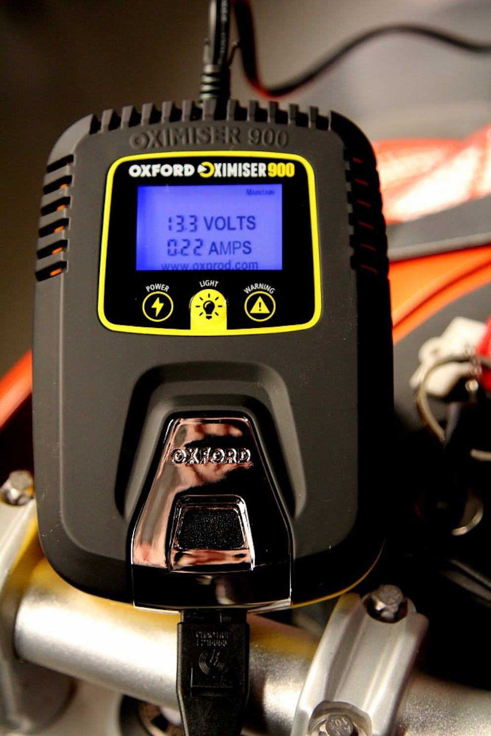 How To Charge A Motorcycle Battery Revzilla Dual Accessory Fuse Block Powered By Key On Off Of Aux I Dig This Charger Because Its Constantly Displaying The Batterys State Health And If Things Start Go South You Find Out About It When Your Bike