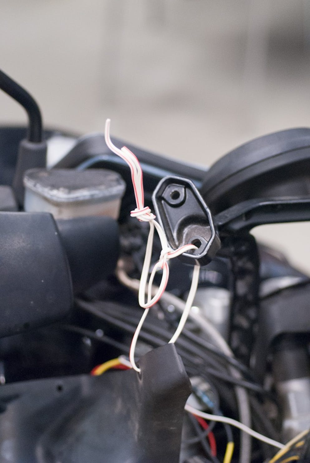 How To Tips For Installing Auxiliary Lights On Your Motorcycle Ktm Lc4 400 Wiring Diagram This Is The Only Acceptable Use Speaker Wire In A Installation Tying Fairings Safe Spot Quality Stranded Actual